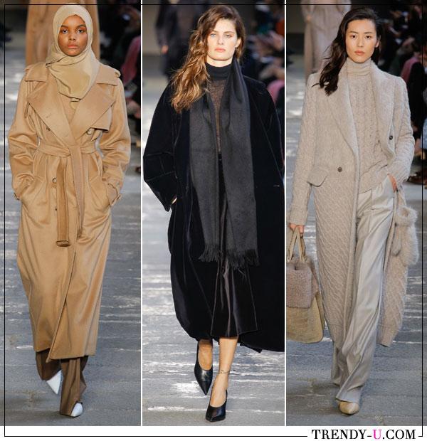 Модные пальто оверсайз Max Mara осень-зима 2017-2018
