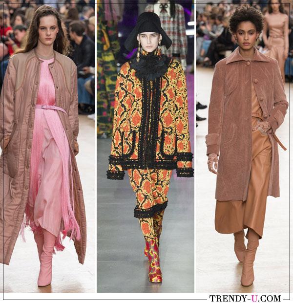 Верхняя одежда и моно-образы в коллекциях Nina Ricci и Gucci осень-зима 2017-2018