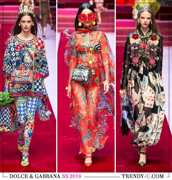 Весенне-летняя коллекция Dolce & Gabbana весна-лето 2018