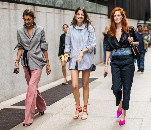 Уличные модницы, модели и блогеры выбирают смарт кэжуал