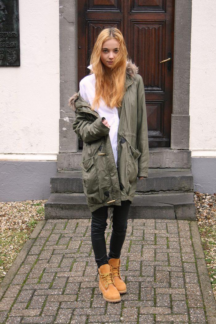 Что носить с тимберлендами зимой