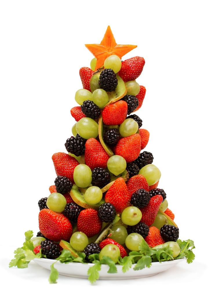 Елка из фруктов как подарок на Новый год своими руками