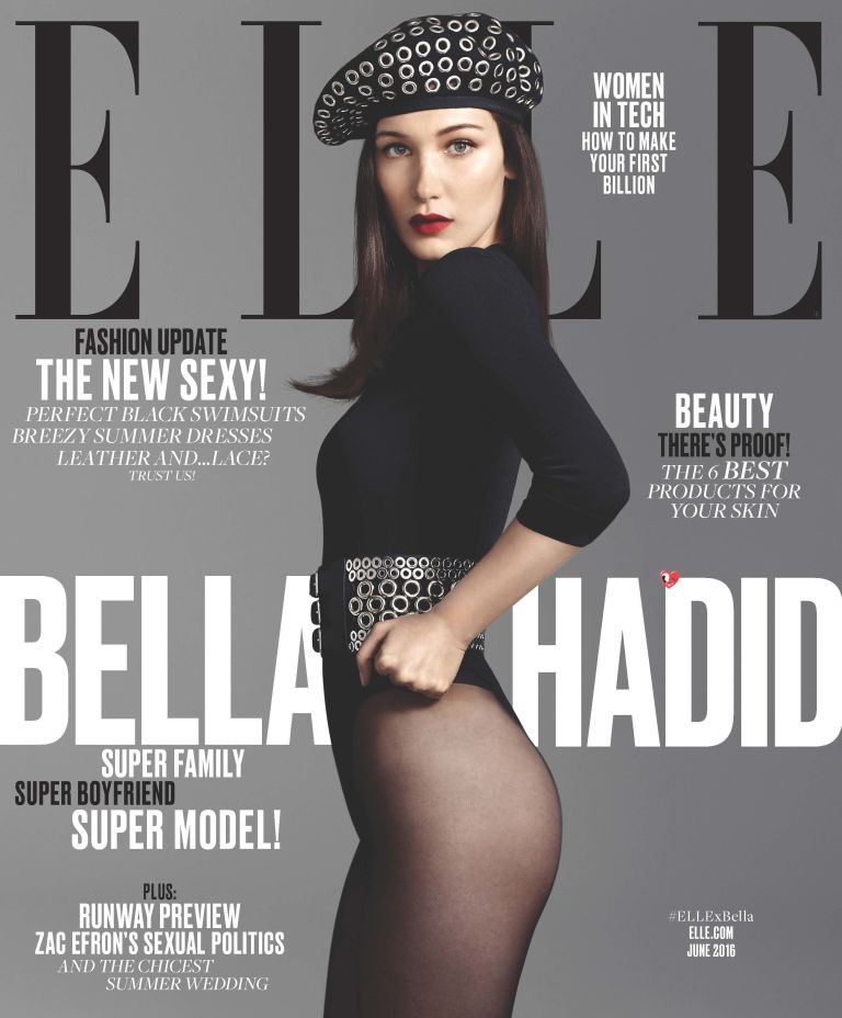 Белла Хадид на обложке журнала Elle
