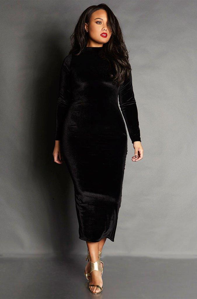 Бархатное платье-водолазка на все случаи жизни