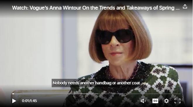 Модные тенденции весны и лета 2017: мнение Анны Винтур