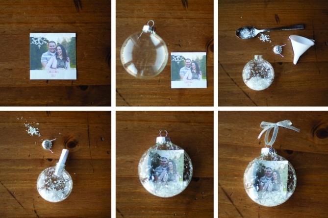 Схема создания елочного шара с фотографией