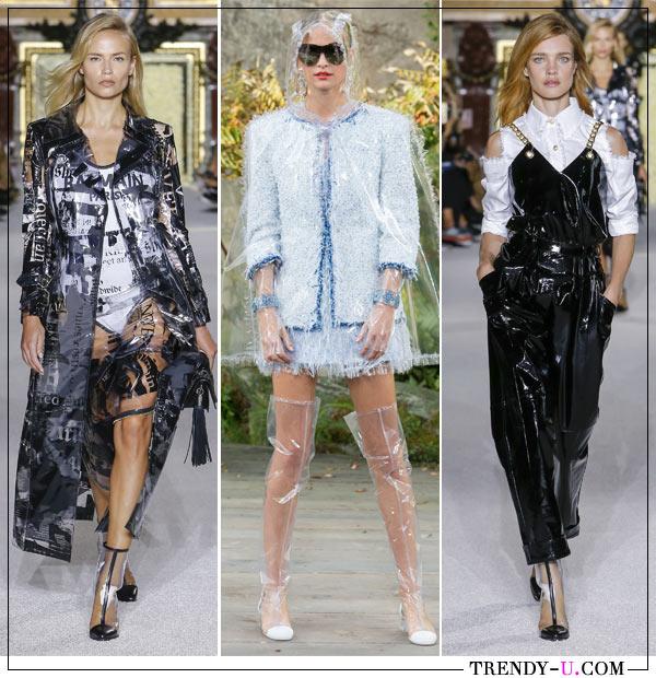 24e42680d2c2 Модные тенденции весны и лета 2018. Пластик в коллекциях Balmain и Chanel