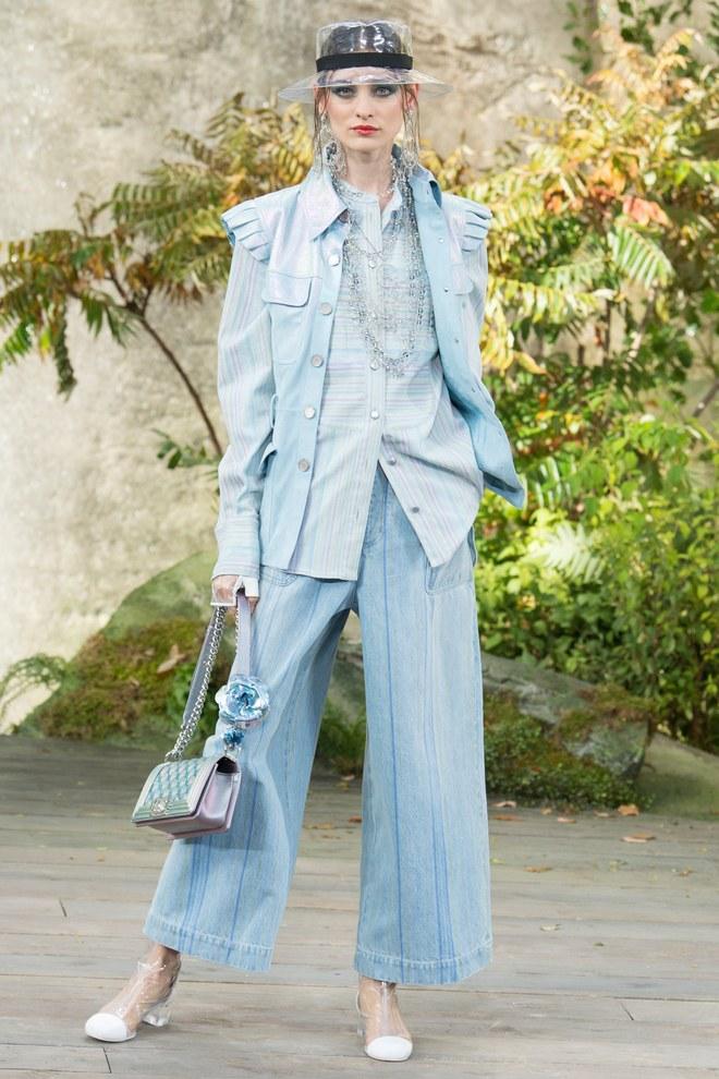Деним и прозрачная обувь в коллекции Chanel