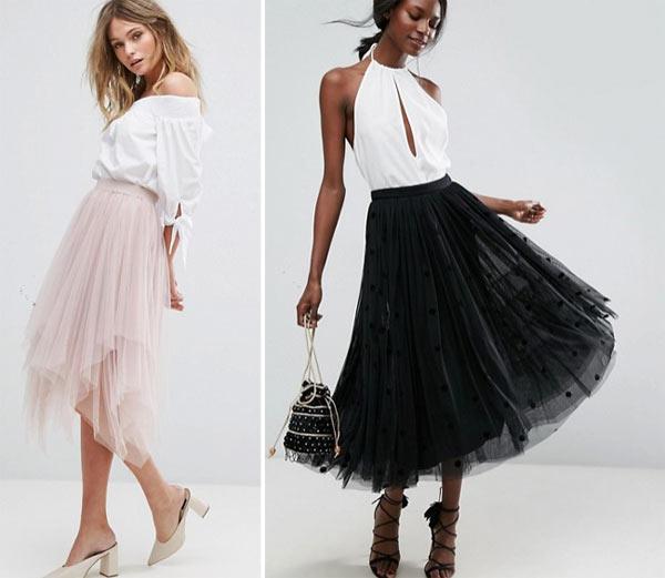 Look для вечеринки: пышная юбка в сочетании с блузкой