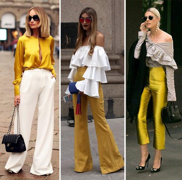 Как одеться на Новый год 2018: в желтый и в золотистый!