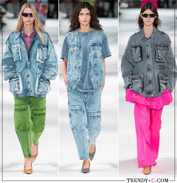 Модные джинсы и джинсовые куртки в стиле 90-х от Stella Mc Cartney весна-лето 2018