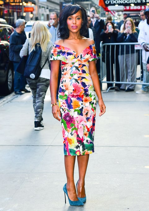 Керри Вашингтон в цветочном платье от Faith Connexion