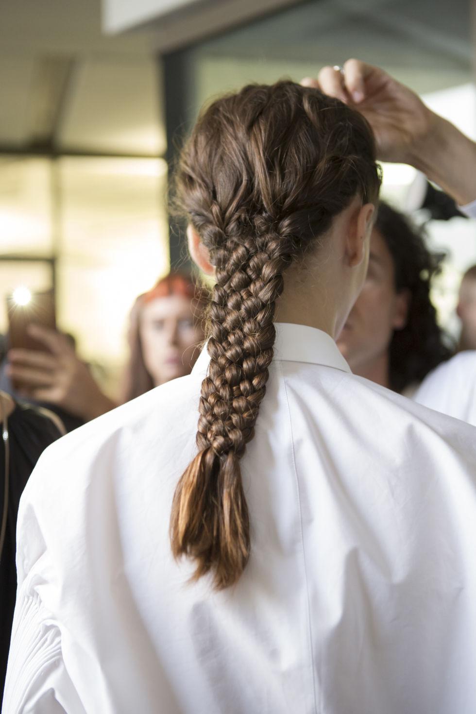 Сложные и элегантные косы в коллекции Jil Sander