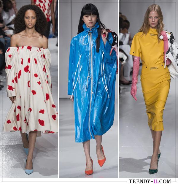 Модные образы из весенне-летней коллекции CAVIN KLEIN 2018