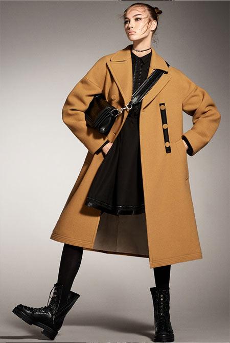 Демисезонное пальто Zara Woman осень-зима 2017-2018