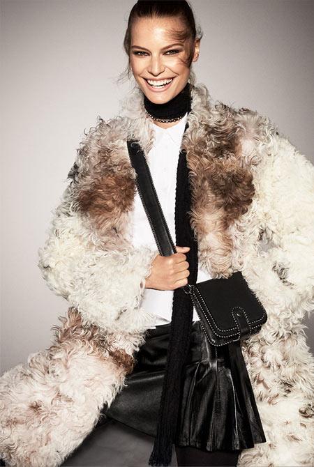 Искусственная шуба из лукбука бренда Zara осень-зима 2017-2018