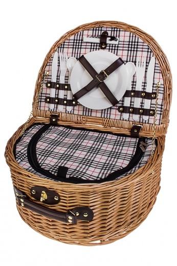 Набор для пикника в плетеном сундуке
