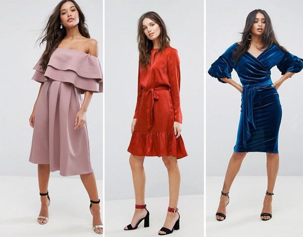 Модные платья на Новый год 2018
