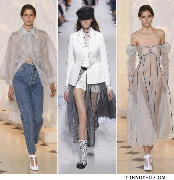 Модная женская одежда Emma Wickstead и Christian Dior весна-лето 2018