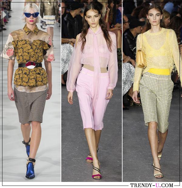 Модные шорты и одежда в спортивном стиле Maison Margiela и No. 21 весна-лето 2018
