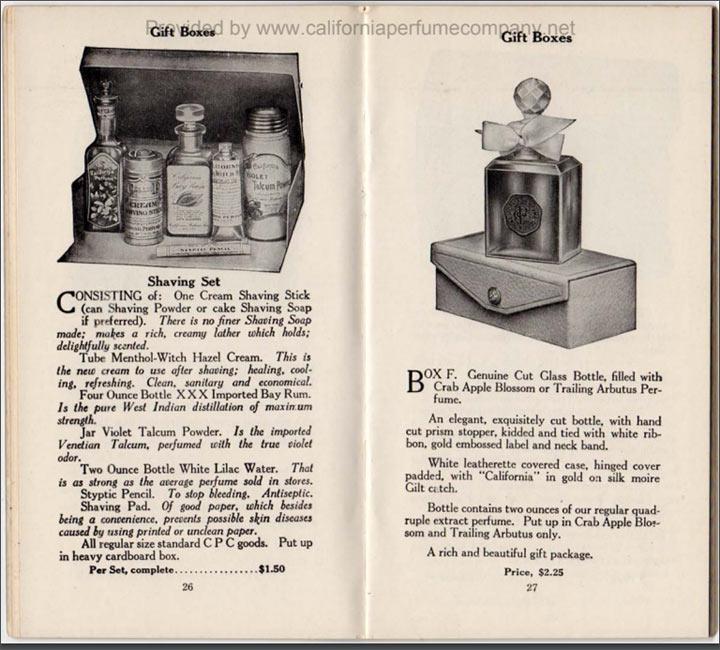 Страница из каталога The California Perfume Company, 1914 год