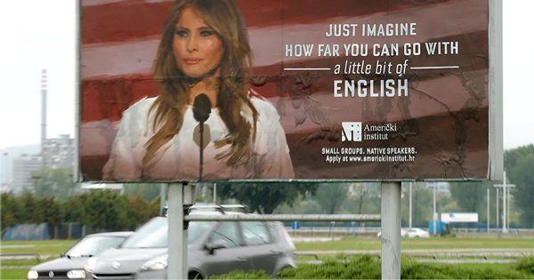Первая леди США в рекламе хорватской языковой школы