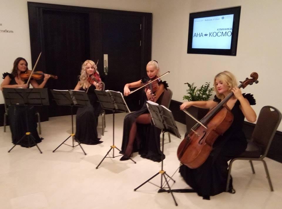 Встреча гостей в холле с музыкой