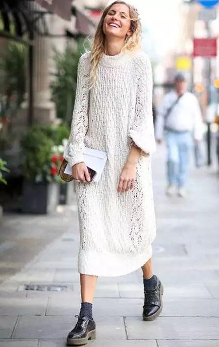 с чем носить вязаное платье мини миди оверсайз и водолазка Golbis