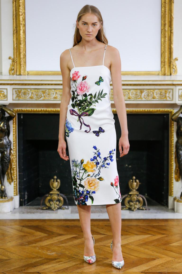 Модные платья на весну 2018 с цветочным орнаментом