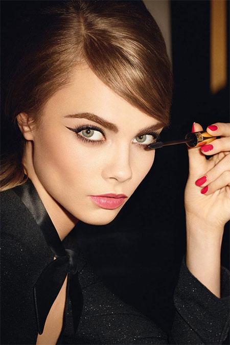 Кара Делевинь в рекламной кампании Yves Saint Laurent Beauty