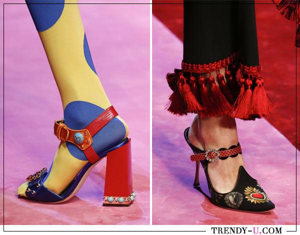 Модные босоножки с декоративными элементами для лета 2018 от Dolce & Gabbana