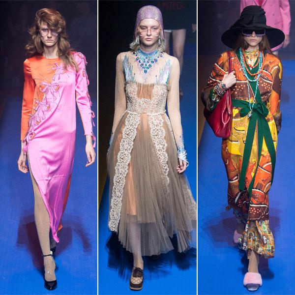 Модные платья из коллекции Gucci весна-лето 2018