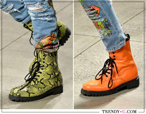 Модные ботинки весна-лето 2018 by Geremy Scott