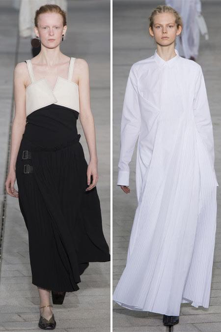 Платья в стиле минимализм Jil Sander SS 2018