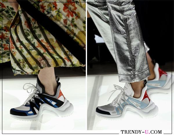 Модные кроссовки из коллекции Louis Vuitton весна-лето 2018