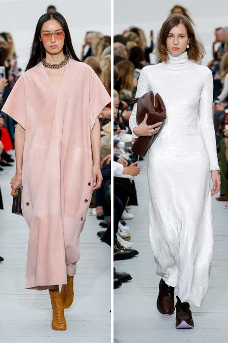 Модные платья в стиле минимализм для весны и лета 2018 из коллекции Celine