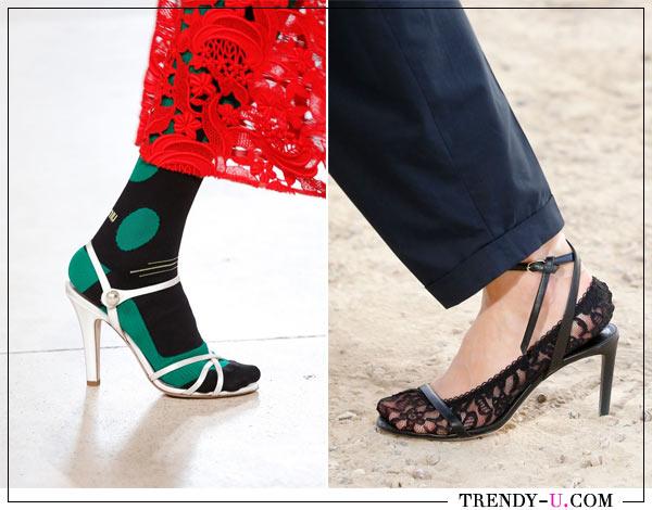 Модные босоножки на каблуке Miu Miu и Nina и Ricci для лета 2018