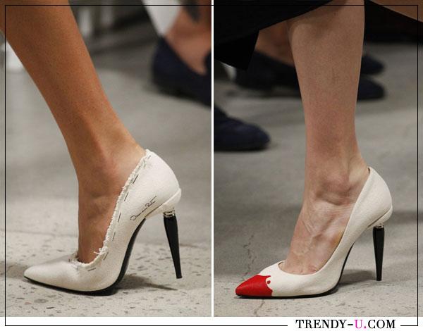 Модные туфли на шпильке из коллекции Oscar de la Renta весна-лето 2018