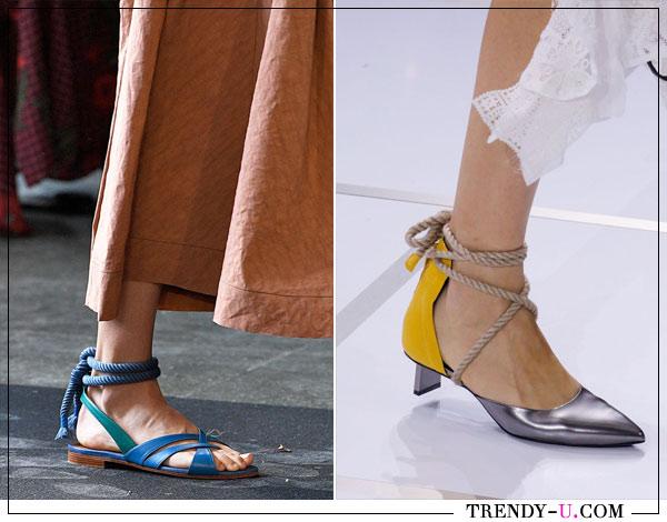 Модные сандалии и босоножки от Rocsanda и Sacai весна-лето 2018