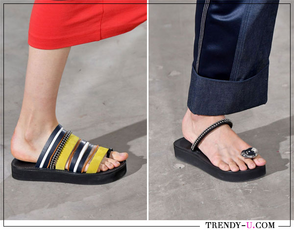 Модные шлепанцы Philipp Plein весна-лето 2018