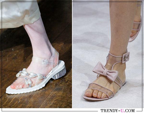 Модные сандалии весна-лето 2018 из коллекций Simon Rocha и Valentino