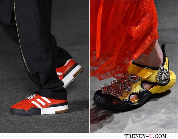 Модные кроссовки Alexander Wang и Christopher Kane весна-лето 2018