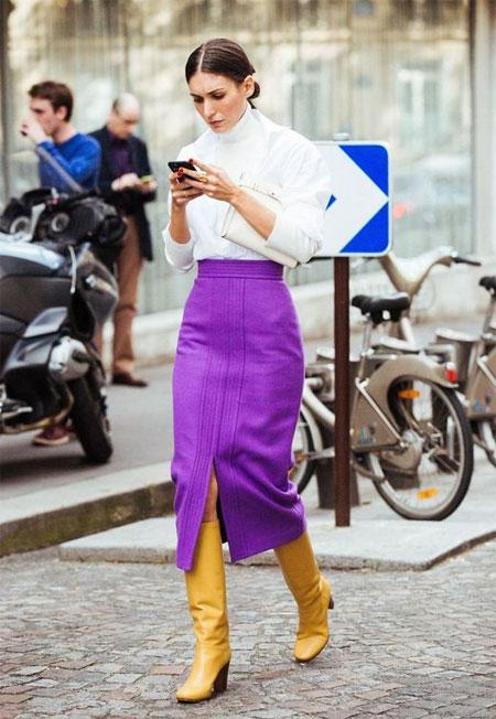 Юбка цвета ультрафиолет