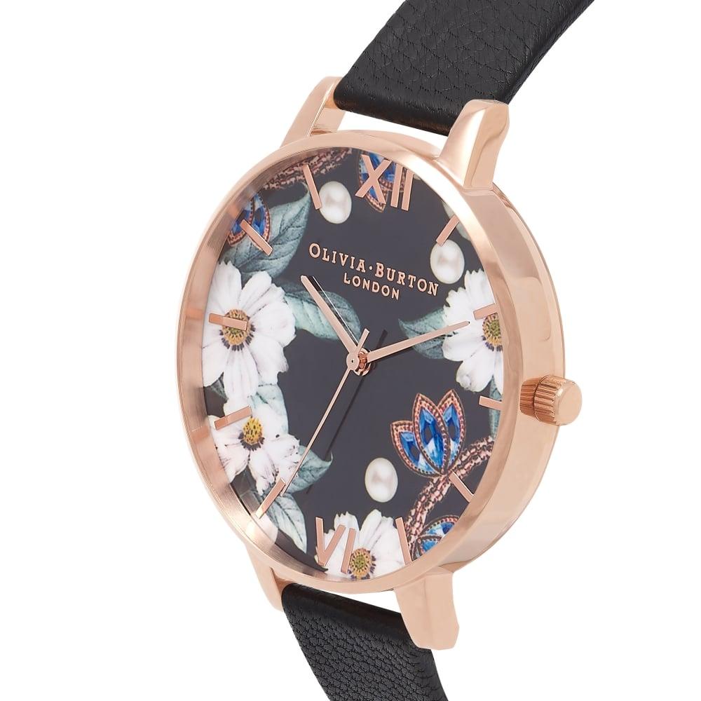 Часы с растительным орнаментом от Olivia Burton