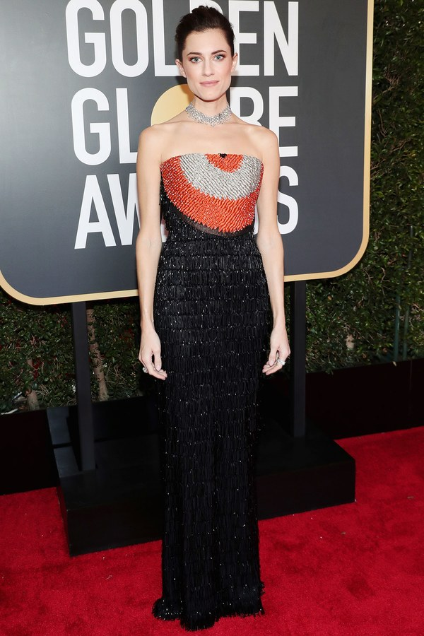 """Актриса Эллисон Уильямс на красной дорожке """"Золотого глобуса"""""""