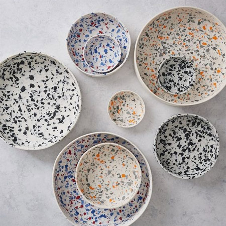 Посуда терраццо в моде в 2018-м