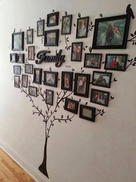 Семейное дерево на стене