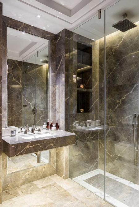 Ванная комната из мрамора 2018