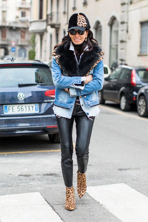Джованна Батталья-Энгельберт в джинсовой куртке в стиле 90-х