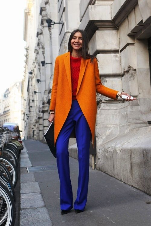 Образ в стиле color blocking 2018